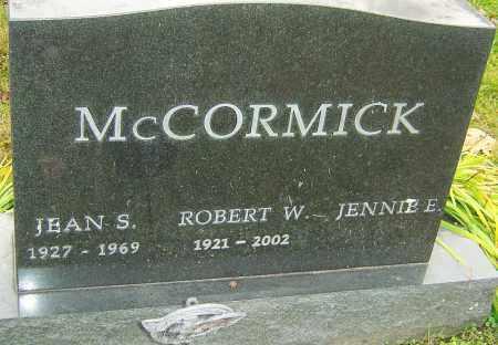 MCCORMICK, JEAN - Franklin County, Ohio | JEAN MCCORMICK - Ohio Gravestone Photos
