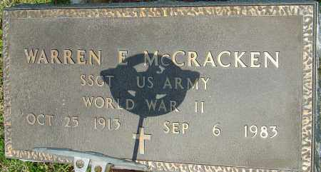MCCRACKEN, WARREN E - Franklin County, Ohio | WARREN E MCCRACKEN - Ohio Gravestone Photos