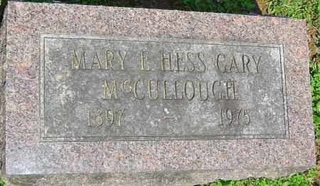 HESS MCCULLOUGH, MARY - Franklin County, Ohio | MARY HESS MCCULLOUGH - Ohio Gravestone Photos