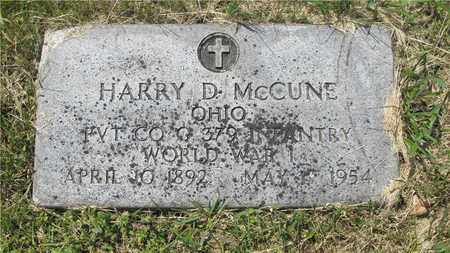 MCCUNE, HARRY D. - Franklin County, Ohio | HARRY D. MCCUNE - Ohio Gravestone Photos