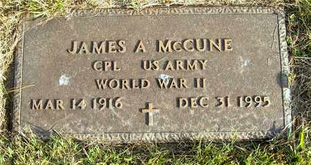MCCUNE, JAMES A. - Franklin County, Ohio | JAMES A. MCCUNE - Ohio Gravestone Photos