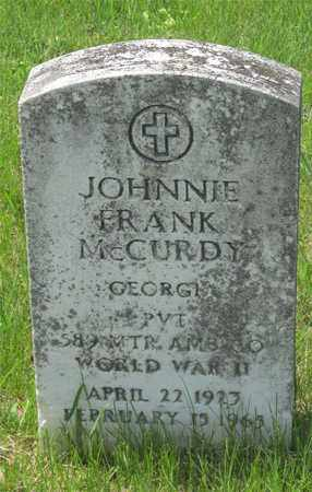 MCCURDY, JOHNNIE FRANK - Franklin County, Ohio | JOHNNIE FRANK MCCURDY - Ohio Gravestone Photos