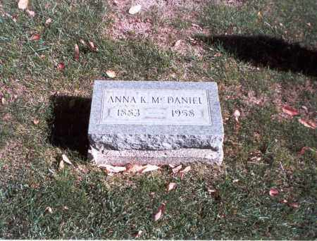 MCDANIEL, ANNA K. - Franklin County, Ohio | ANNA K. MCDANIEL - Ohio Gravestone Photos