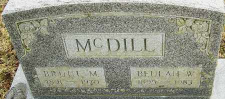 MCDILL, BEULAH W - Franklin County, Ohio | BEULAH W MCDILL - Ohio Gravestone Photos