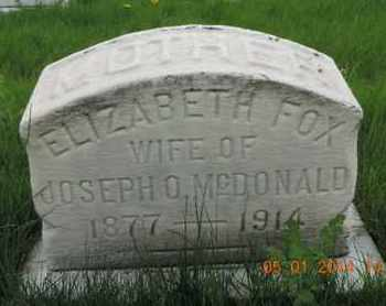 MCDONALD, ELIZABETH - Franklin County, Ohio | ELIZABETH MCDONALD - Ohio Gravestone Photos