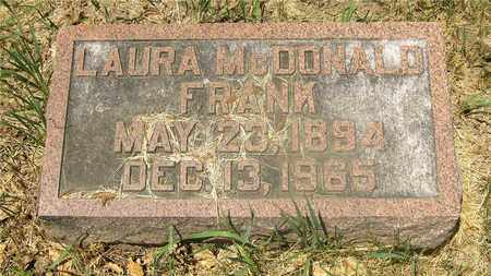 MCDONALD FRANK, LAURA - Franklin County, Ohio | LAURA MCDONALD FRANK - Ohio Gravestone Photos