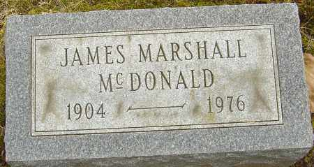 MCDONALD, JAMES MARSHALL - Franklin County, Ohio | JAMES MARSHALL MCDONALD - Ohio Gravestone Photos