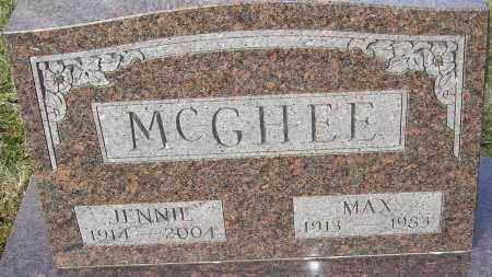 MCGHEE, JENNIE - Franklin County, Ohio | JENNIE MCGHEE - Ohio Gravestone Photos