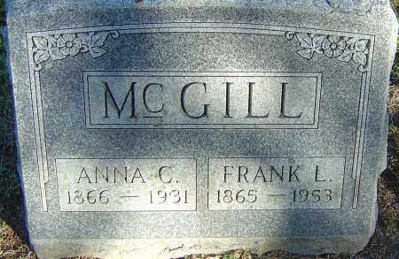 RAU MCGILL, ANNA C - Franklin County, Ohio | ANNA C RAU MCGILL - Ohio Gravestone Photos