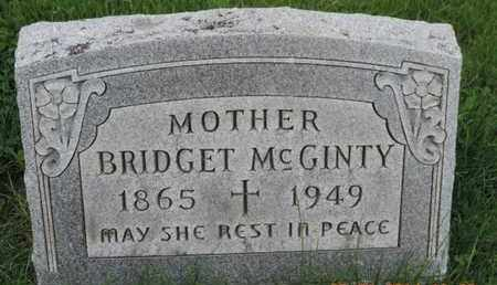 MCGINTY, BRIDGET - Franklin County, Ohio | BRIDGET MCGINTY - Ohio Gravestone Photos