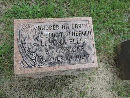 MCGONIGLE, LENORA ELLEN - Franklin County, Ohio | LENORA ELLEN MCGONIGLE - Ohio Gravestone Photos