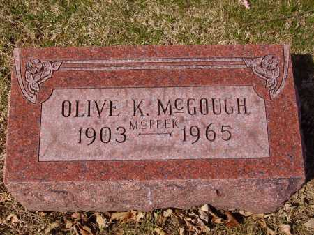 MCGOUGH, OLIVE - Franklin County, Ohio | OLIVE MCGOUGH - Ohio Gravestone Photos