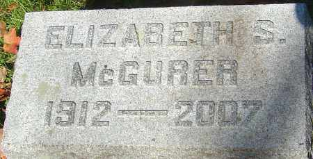 SCATTERDAY MCGURER, ELIZABETH - Franklin County, Ohio | ELIZABETH SCATTERDAY MCGURER - Ohio Gravestone Photos