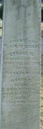 MCILVAIN, GEORGE W - Franklin County, Ohio | GEORGE W MCILVAIN - Ohio Gravestone Photos