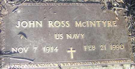 MCINTYRE, JOHN ROSS - Franklin County, Ohio | JOHN ROSS MCINTYRE - Ohio Gravestone Photos