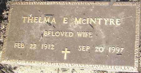 MCINTYRE, THELMA E - Franklin County, Ohio | THELMA E MCINTYRE - Ohio Gravestone Photos
