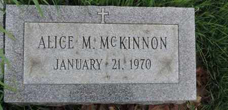 MCKINNON, ALICE M - Franklin County, Ohio | ALICE M MCKINNON - Ohio Gravestone Photos