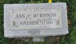MCKINNON, ANN C - Franklin County, Ohio | ANN C MCKINNON - Ohio Gravestone Photos