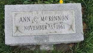 MCKINNON, ANN C - Franklin County, Ohio | ANN C MCKINNON - Ohio Gravestone Photos