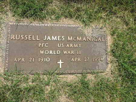 MCMANICAL, RUSSELL JAMES - Franklin County, Ohio | RUSSELL JAMES MCMANICAL - Ohio Gravestone Photos