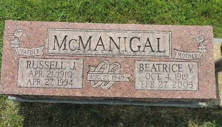 MCMANIGAL, RUSSELL J. - Franklin County, Ohio | RUSSELL J. MCMANIGAL - Ohio Gravestone Photos