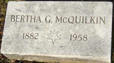 MCQUILKIN, BERTHA G - Franklin County, Ohio | BERTHA G MCQUILKIN - Ohio Gravestone Photos