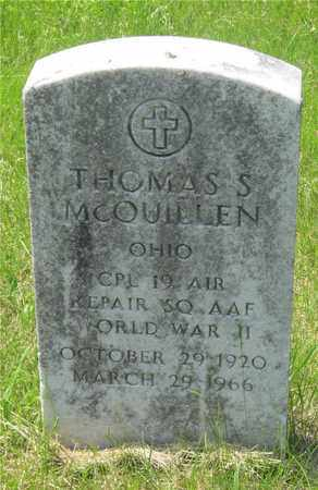 MCQUILLEN, THOMAS S. - Franklin County, Ohio | THOMAS S. MCQUILLEN - Ohio Gravestone Photos