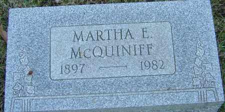 MCQUINIFF, MARTHA E - Franklin County, Ohio | MARTHA E MCQUINIFF - Ohio Gravestone Photos