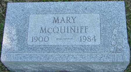 MCQUINIFF, MARY - Franklin County, Ohio | MARY MCQUINIFF - Ohio Gravestone Photos