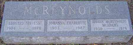 MCREYNOLDS, JOHANNA - Franklin County, Ohio | JOHANNA MCREYNOLDS - Ohio Gravestone Photos