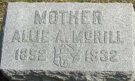 MCDONALD MCRILL, ALLIE ALITINA - Franklin County, Ohio | ALLIE ALITINA MCDONALD MCRILL - Ohio Gravestone Photos