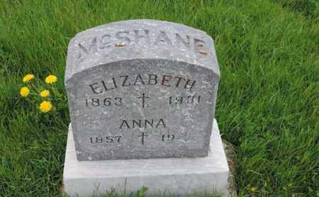 MCSHANE, ELIZABETH - Franklin County, Ohio | ELIZABETH MCSHANE - Ohio Gravestone Photos