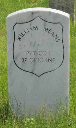 MEANS, WILLIAM - Franklin County, Ohio | WILLIAM MEANS - Ohio Gravestone Photos