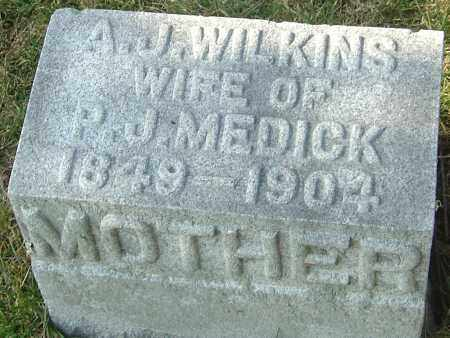 WILKINS MEDICK, A J - Franklin County, Ohio | A J WILKINS MEDICK - Ohio Gravestone Photos