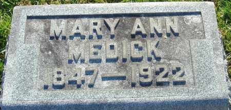MEDICK, MARY ANN - Franklin County, Ohio | MARY ANN MEDICK - Ohio Gravestone Photos