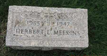 MEEKINS, HERBERT L. - Franklin County, Ohio | HERBERT L. MEEKINS - Ohio Gravestone Photos
