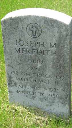 MEREDITH, JOSEPH M. - Franklin County, Ohio | JOSEPH M. MEREDITH - Ohio Gravestone Photos