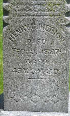 MERION, HENRY C. - Franklin County, Ohio | HENRY C. MERION - Ohio Gravestone Photos