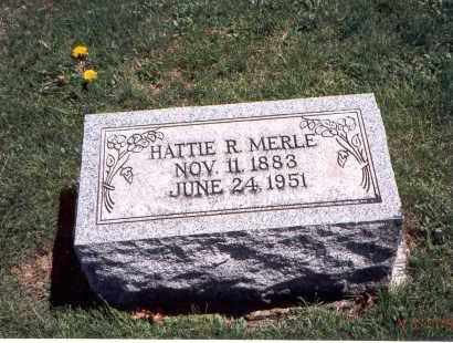 MERLE, HATTIE R. - Franklin County, Ohio | HATTIE R. MERLE - Ohio Gravestone Photos