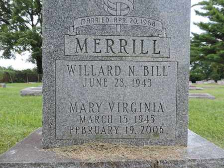 MERRILL, MARY VIRGINIA - Franklin County, Ohio | MARY VIRGINIA MERRILL - Ohio Gravestone Photos