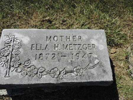 METZGER, ELLA H. - Franklin County, Ohio | ELLA H. METZGER - Ohio Gravestone Photos