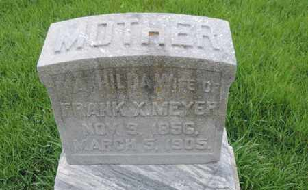 MEYER, MATHIDA - Franklin County, Ohio | MATHIDA MEYER - Ohio Gravestone Photos