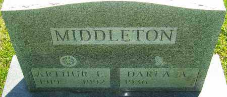 MIDDLETON, ARTHUR E - Franklin County, Ohio | ARTHUR E MIDDLETON - Ohio Gravestone Photos