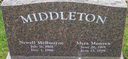 MUNYAN MIDDLETON, MYRA - Franklin County, Ohio | MYRA MUNYAN MIDDLETON - Ohio Gravestone Photos