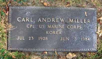 MILLER, CARL ANDREW - Franklin County, Ohio | CARL ANDREW MILLER - Ohio Gravestone Photos