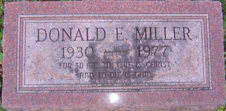 MILLER, DONALD E - Franklin County, Ohio | DONALD E MILLER - Ohio Gravestone Photos