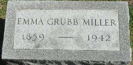 GRUBB MILLER, EMMA - Franklin County, Ohio | EMMA GRUBB MILLER - Ohio Gravestone Photos