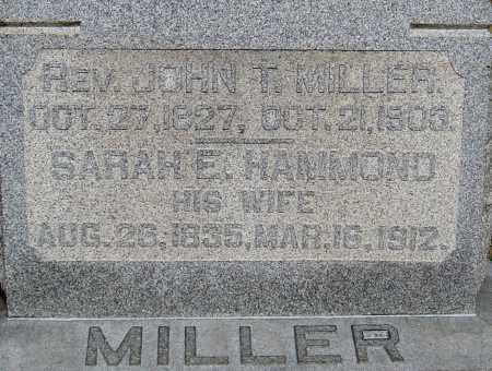 HAMMOND MILLER, SARAH E - Franklin County, Ohio | SARAH E HAMMOND MILLER - Ohio Gravestone Photos