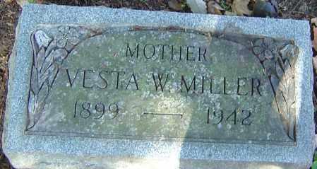 FICHTELMANN MILLER, VESTA W - Franklin County, Ohio | VESTA W FICHTELMANN MILLER - Ohio Gravestone Photos