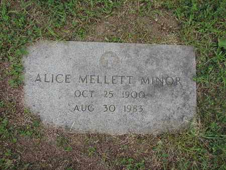 MINOR, ALICE - Franklin County, Ohio | ALICE MINOR - Ohio Gravestone Photos
